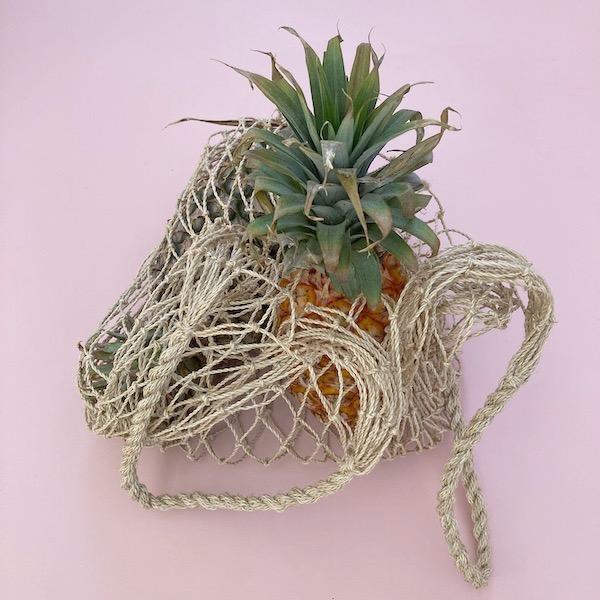 handmade jute natural string bag