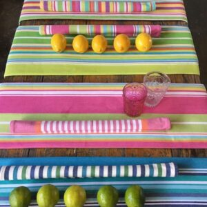 Cotton Table cloth stripe with fringes