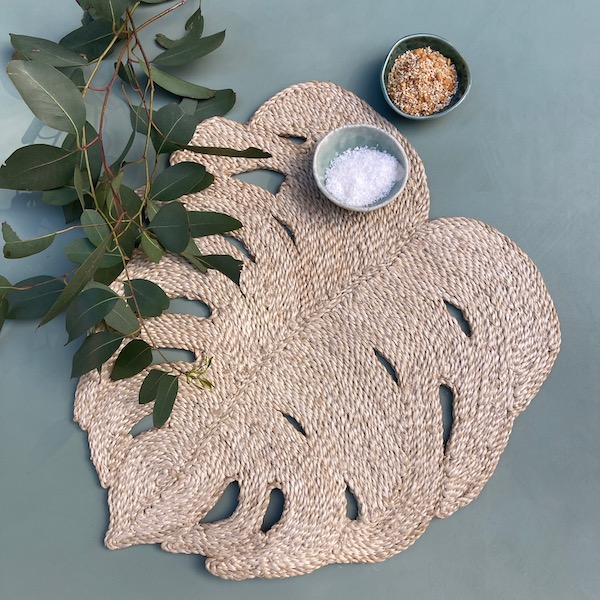 Handmade Jute Place Mat Natural Palm