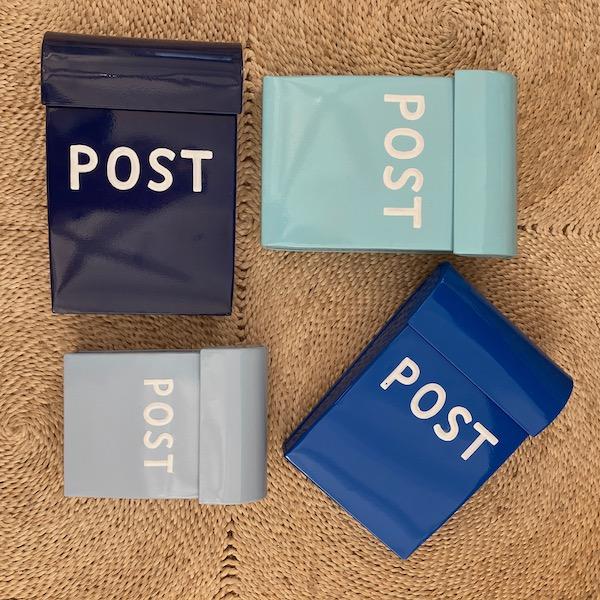 Post Box Medium - Blue Colours