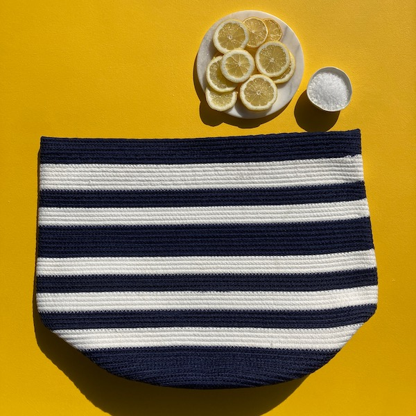 Storage Basket Set - Navy & White Hampton Stripe