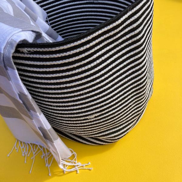 Storage Basket Set - B&W Jetty Stripe
