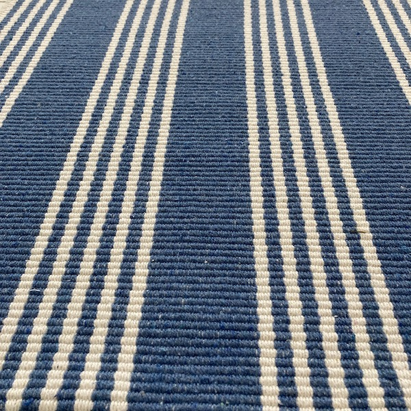 Indah Island Collaboration - Floor Rug Recycled Cotton - Durban Denim