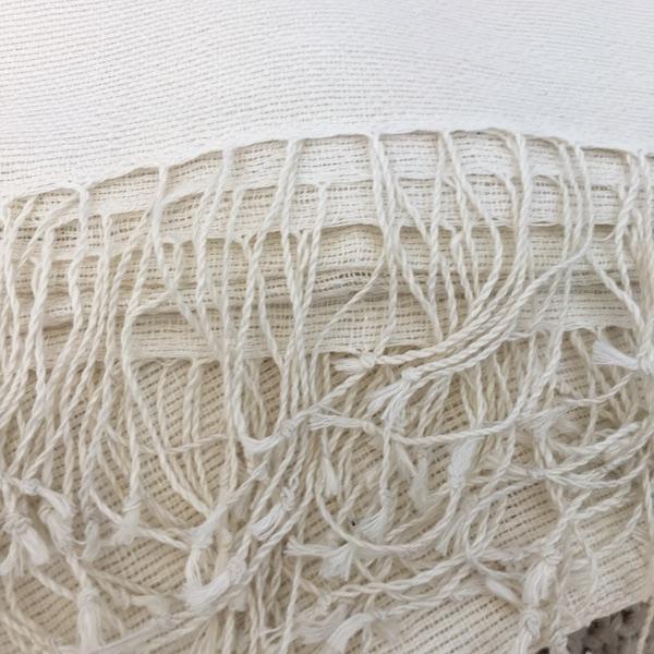 Throw Linen Cotton – Ivory