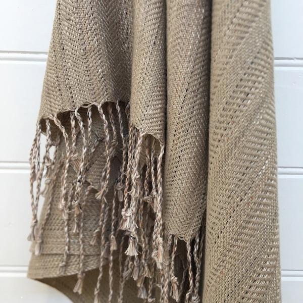 Throw Linen/cotton stone