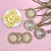 Handmade Jute Coaster Set - Plantation - natural-coa02