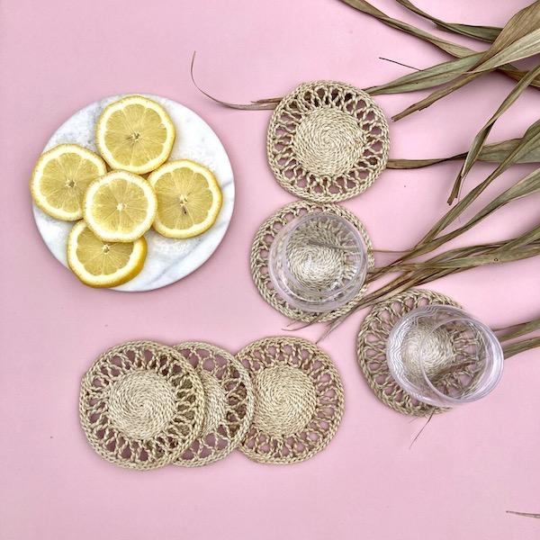 Plantation Coaster Sets - Natural