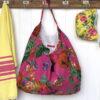 Beach Bag XXL BAG89 - hot-pink-rose-garden