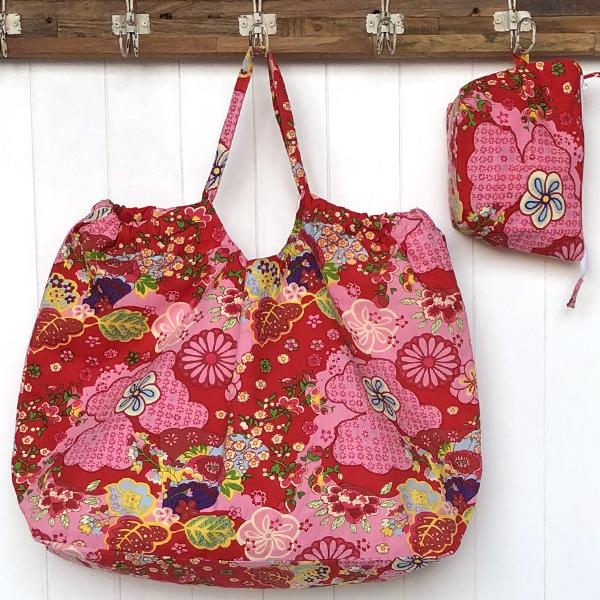 XXL beach Bag -retro red