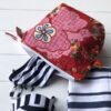 Pencil Case/Pouch Floral Print - red-retro