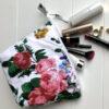 Pencil Case/Pouch Floral Print - white-floral