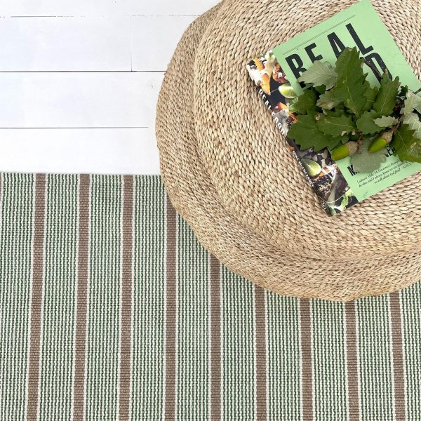 Indah Island Collaboration - Floor Rug Recycled Cotton - Geneva Green