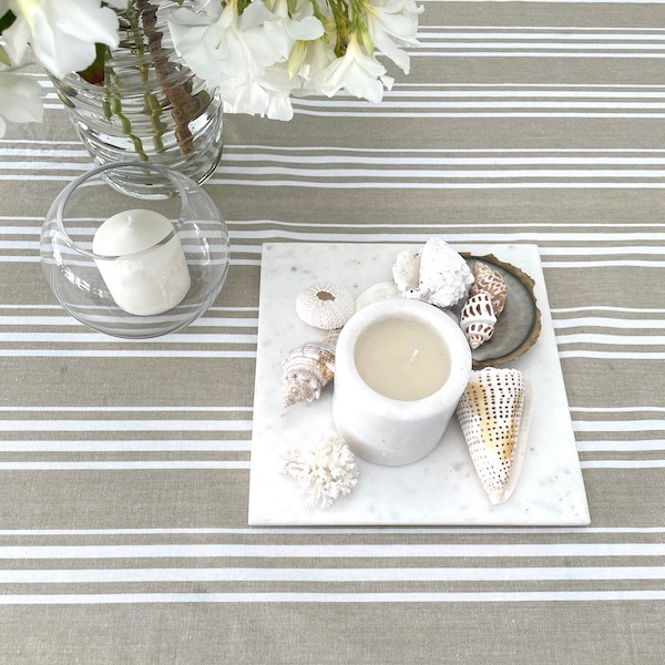 Cotton table cloth - armani beige