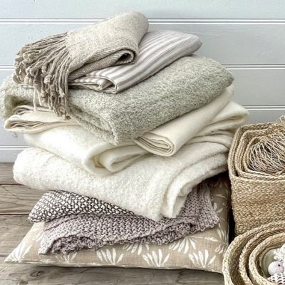 Soft textured throws by Carnival Homewares