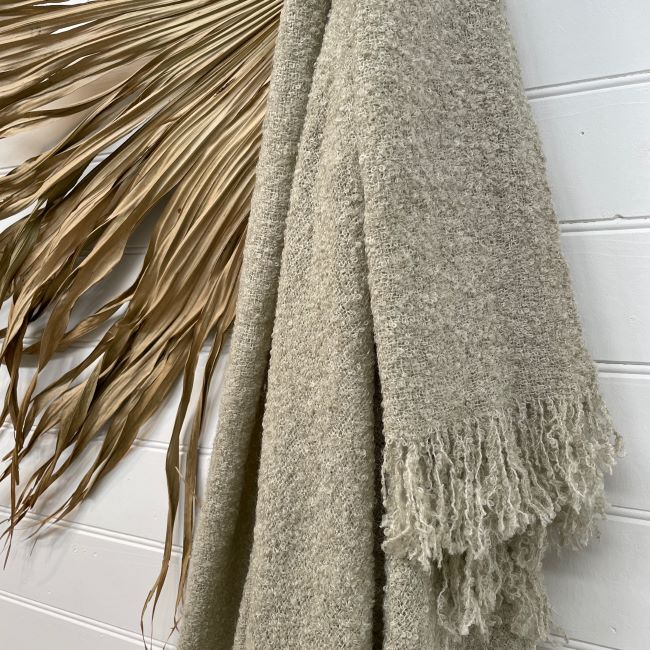 THROW BOUCLE-BEIGE