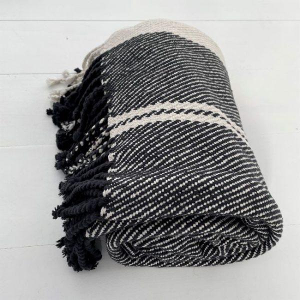 THR13033-STRIPE-COTTON-BLACK