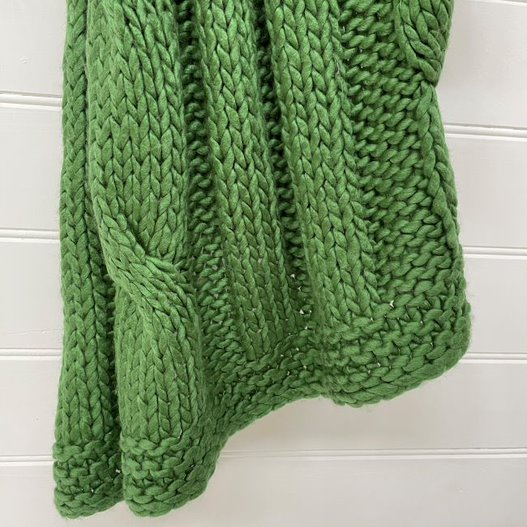 THROW CHUNKY CABLE GREEN